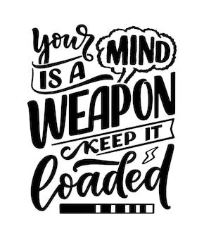 Hand getekende motivatie belettering citaat in moderne kalligrafie stijl. inspiratieslogan voor print- en posterontwerp. vector illustratie