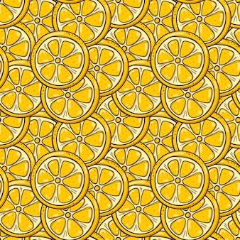 Hand getekende naadloze achtergrond met citroenen.