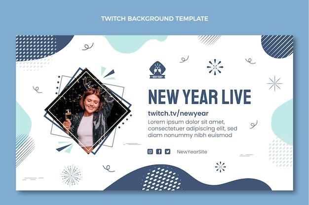 Hand getekende nieuwjaar twitch achtergrond