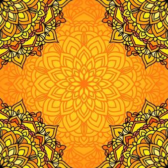 Hand getekende oosterse sier etnische kant kaart achtergrond voor t-shirt design, vintage kaart, uitnodiging voor feest, yoga poster, mode halsdoek, sjaal, brochures, cadeau album, plakboek enz