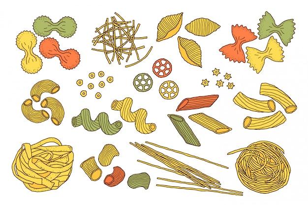 Hand getekende pasta