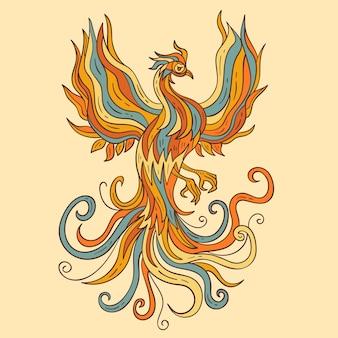 Hand getekende phoenix