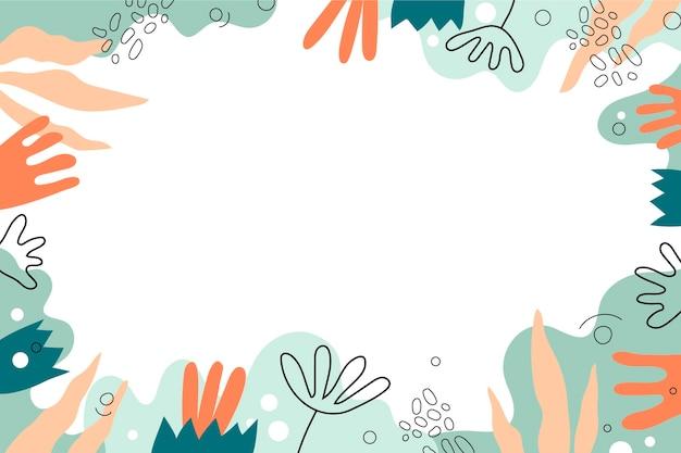 Hand getekende platte abstracte vormen achtergrond