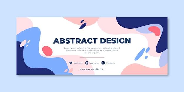 Hand getekende platte abstracte vormen sociale media voorbladsjabloon