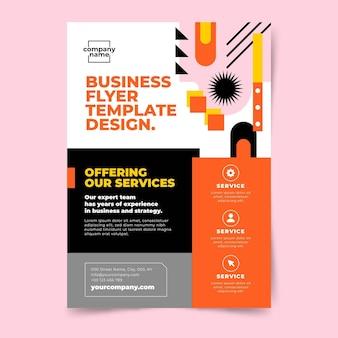 Hand getekende platte ontwerp zakelijke flyer