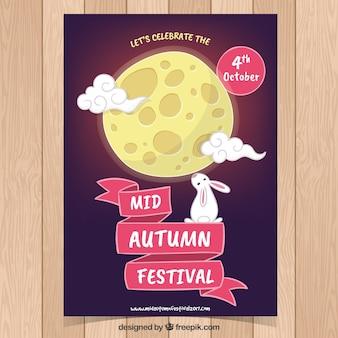 Hand getekende poster voor oosters festival
