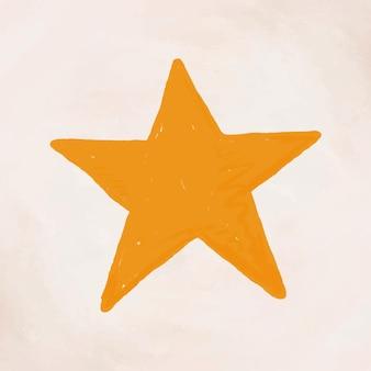 Hand getekende ster element vector schattige sticker