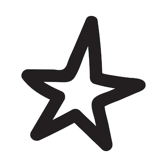 Hand getekende sterren. doodle ster vectorillustraties.