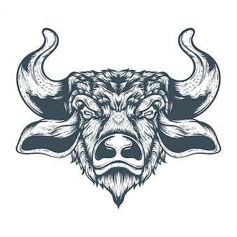 Hand getekende stier illustratie
