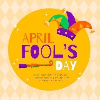 Hand getekende stijl april dwazen dag