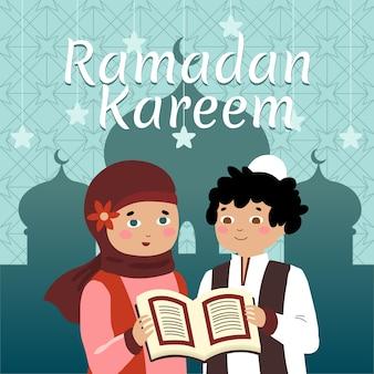 Hand getekende stijl ramadan