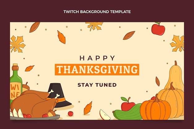 Hand getekende thanksgiving twitch achtergrond