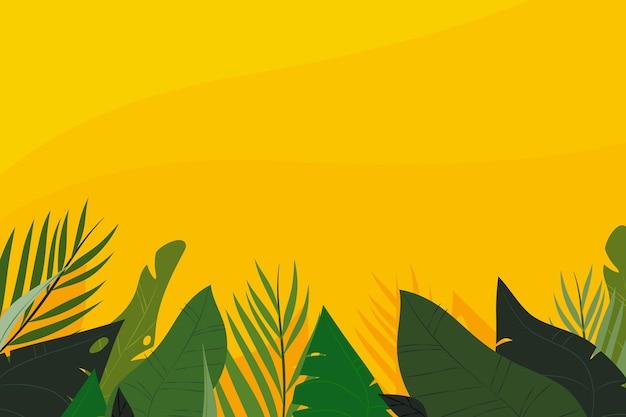 Hand getekende tropische bladeren achtergrond