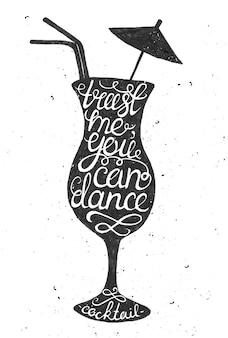 Hand getekende typografie poster.