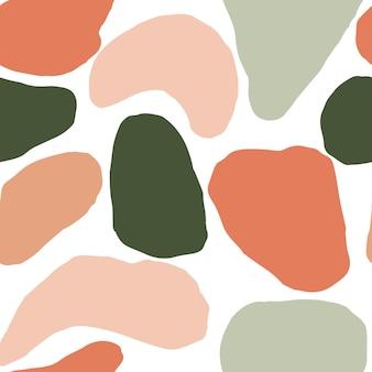 Hand getekende vector naadloze herhalende patronen abstracte vormen pastel kleuren eigentijds