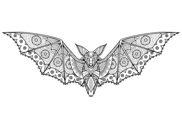 Hand getekende vleermuis achtergrond