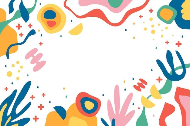 Hand getekende vloeiende abstracte vormen achtergrond