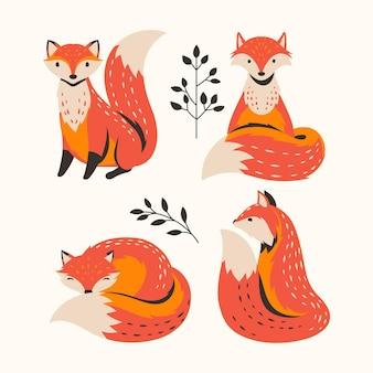 Hand getekende vos-collectie