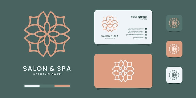 Hand getekende vrouwelijke en moderne schoonheid natuur logo ontwerpsjabloon. logo gebruik salon & spa.