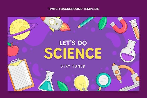 Hand getekende wetenschap twitch achtergrond