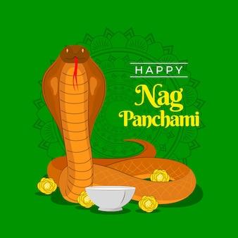 Hand getekende zeur panchami illustratie