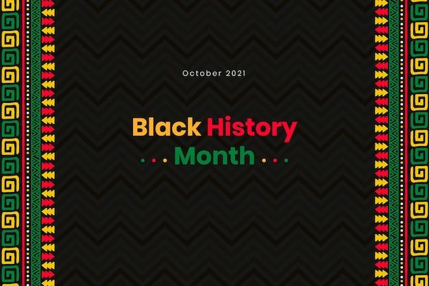 Hand getekende zwarte geschiedenis maand achtergrond