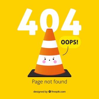 Hand getrokken 404-foutsjabloon