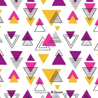 Hand getrokken abstracte geometrische achtergrond