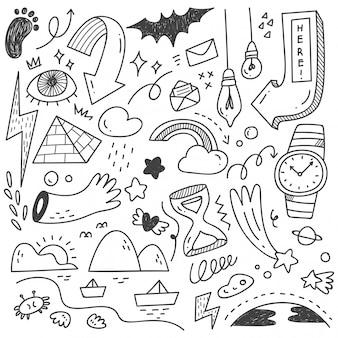 Hand getrokken abstracte krabbel doodle