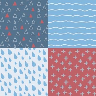 Hand getrokken abstracte naadloze patroonreeks.