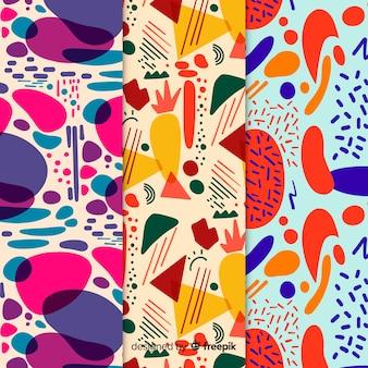 Hand getrokken abstracte patroonreeks