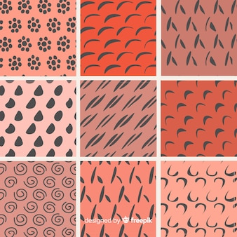 Hand getrokken abstracte vorm patrooninzameling