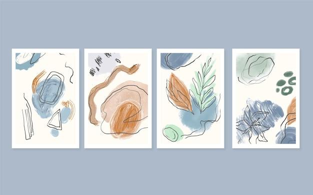 Hand getrokken abstracte vormen covers