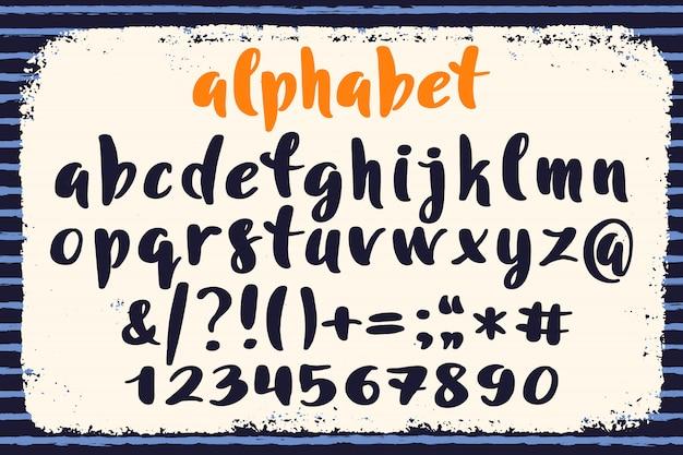 Hand getrokken alfabet