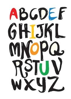 Hand getrokken alfabetletters