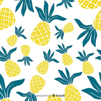 Hand getrokken ananaspatroon