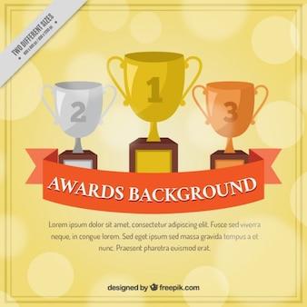 Hand getrokken awards achtergrond
