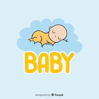 Hand getrokken baby logo