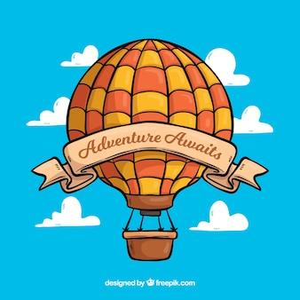 Hand getrokken ballon met vintage stijl