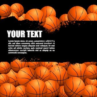 Hand getrokken basketbal achtergrond