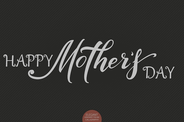 Hand getrokken belettering - happy mothers day. elegante moderne handgeschreven kalligrafie.