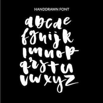 Hand getrokken belettering set. vector alfabet. aangepaste typografie