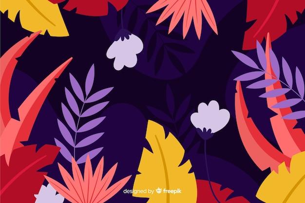 Hand getrokken bladeren en planten achtergrond