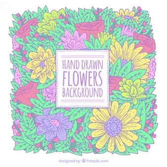 Hand getrokken bloemen achtergrond