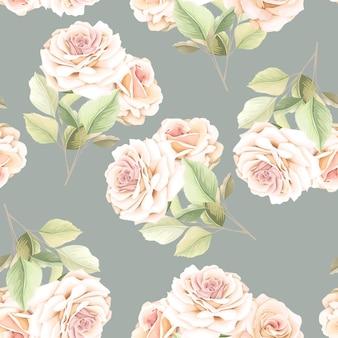 Hand getrokken bloemen naadloos patroon