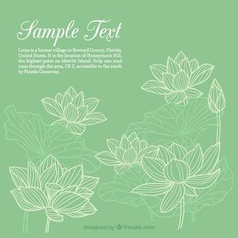 Hand getrokken bloemen template