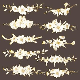 Hand getrokken bloemen