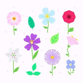 Hand getrokken bloemencollectie