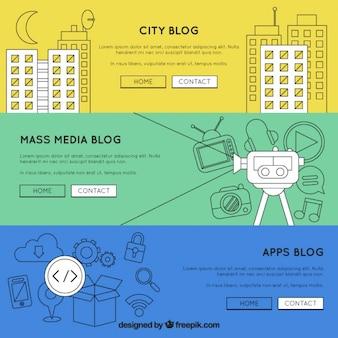 Hand getrokken blog template