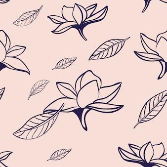 Hand getrokken bloom patroon